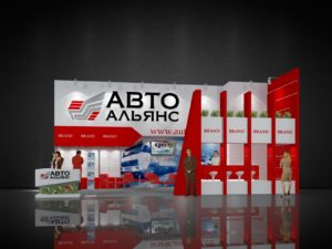 Застройка выставочных стендов для автомобильной индустрии